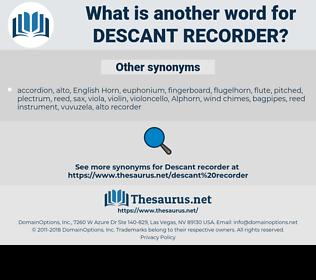 descant recorder, synonym descant recorder, another word for descant recorder, words like descant recorder, thesaurus descant recorder