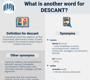 descant, synonym descant, another word for descant, words like descant, thesaurus descant