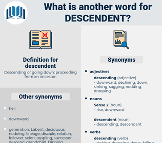 Synonyms for DESCENDENT, Antonyms for DESCENDENT - Thesaurus net