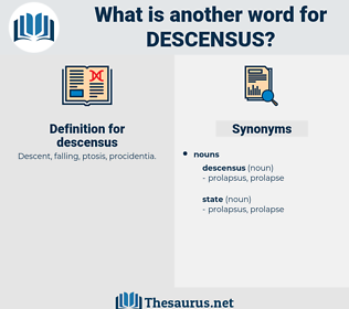 descensus, synonym descensus, another word for descensus, words like descensus, thesaurus descensus