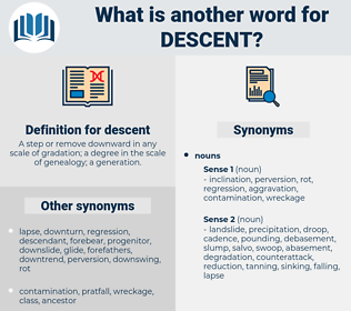 descent, synonym descent, another word for descent, words like descent, thesaurus descent
