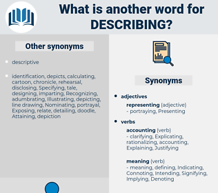 Describing, synonym Describing, another word for Describing, words like Describing, thesaurus Describing