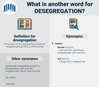 desegregation, synonym desegregation, another word for desegregation, words like desegregation, thesaurus desegregation