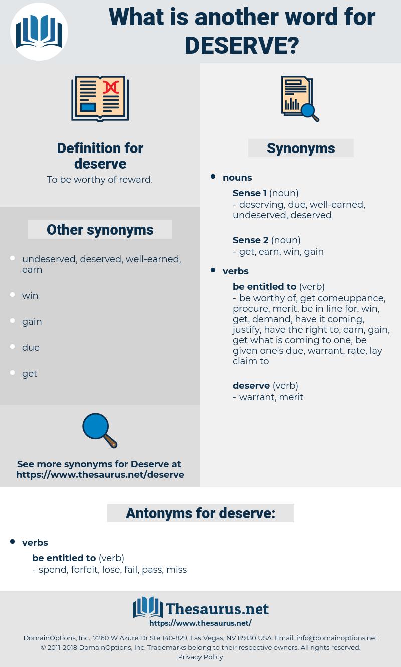 deserve, synonym deserve, another word for deserve, words like deserve, thesaurus deserve
