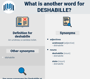 deshabille, synonym deshabille, another word for deshabille, words like deshabille, thesaurus deshabille
