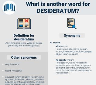 desideratum, synonym desideratum, another word for desideratum, words like desideratum, thesaurus desideratum
