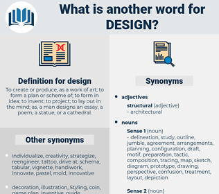 design, synonym design, another word for design, words like design, thesaurus design
