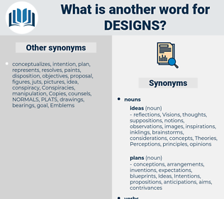 designs, synonym designs, another word for designs, words like designs, thesaurus designs