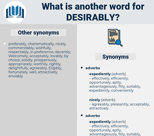 Desirably, synonym Desirably, another word for Desirably, words like Desirably, thesaurus Desirably