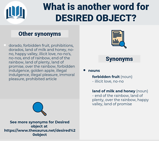 desired object, synonym desired object, another word for desired object, words like desired object, thesaurus desired object