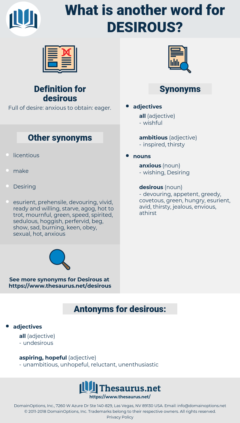 desirous, synonym desirous, another word for desirous, words like desirous, thesaurus desirous