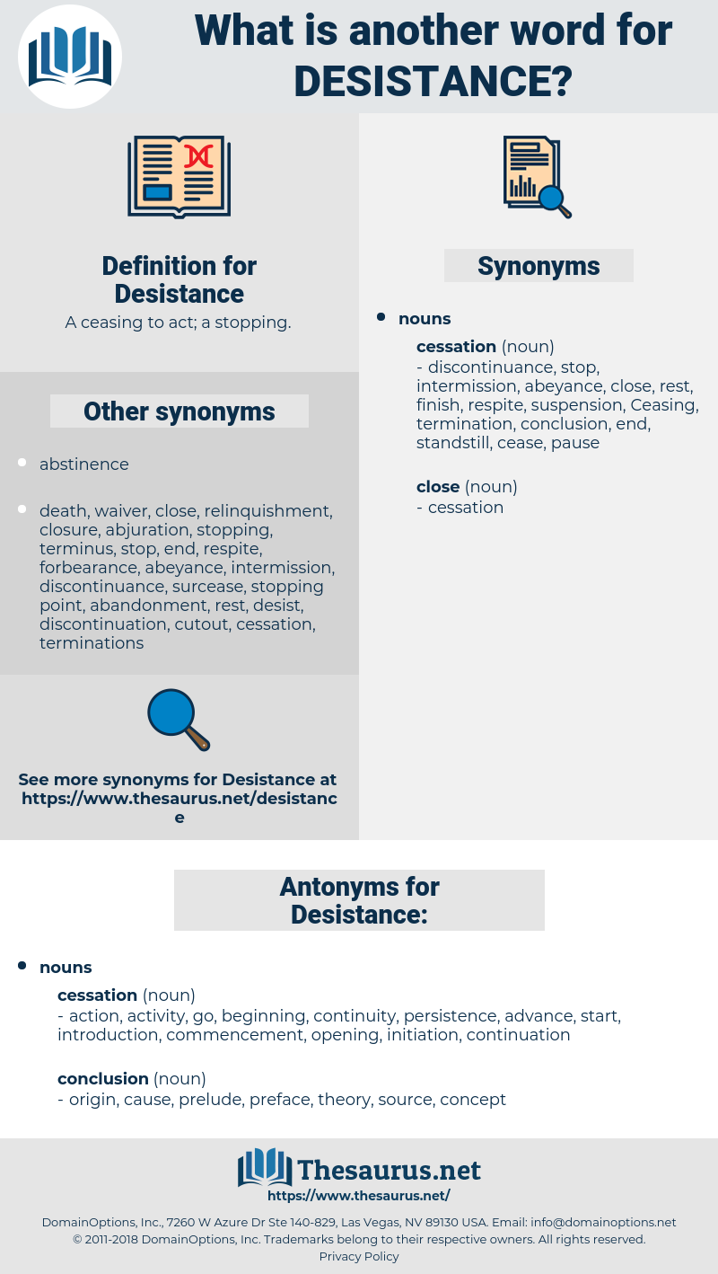 Desistance, synonym Desistance, another word for Desistance, words like Desistance, thesaurus Desistance
