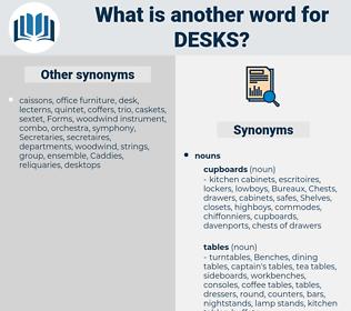 desks, synonym desks, another word for desks, words like desks, thesaurus desks