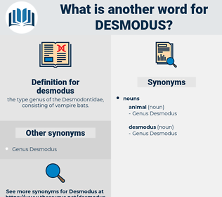 desmodus, synonym desmodus, another word for desmodus, words like desmodus, thesaurus desmodus