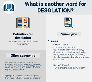 desolation, synonym desolation, another word for desolation, words like desolation, thesaurus desolation