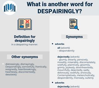 despairingly, synonym despairingly, another word for despairingly, words like despairingly, thesaurus despairingly