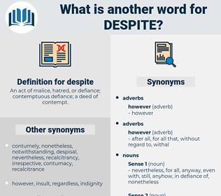despite, synonym despite, another word for despite, words like despite, thesaurus despite