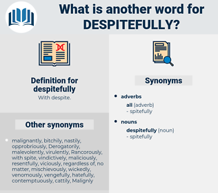 despitefully, synonym despitefully, another word for despitefully, words like despitefully, thesaurus despitefully