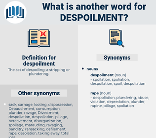despoilment, synonym despoilment, another word for despoilment, words like despoilment, thesaurus despoilment