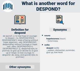 despond, synonym despond, another word for despond, words like despond, thesaurus despond