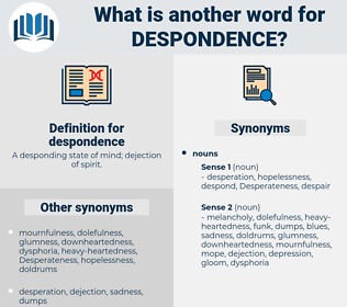 despondence, synonym despondence, another word for despondence, words like despondence, thesaurus despondence