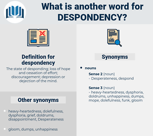 despondency, synonym despondency, another word for despondency, words like despondency, thesaurus despondency