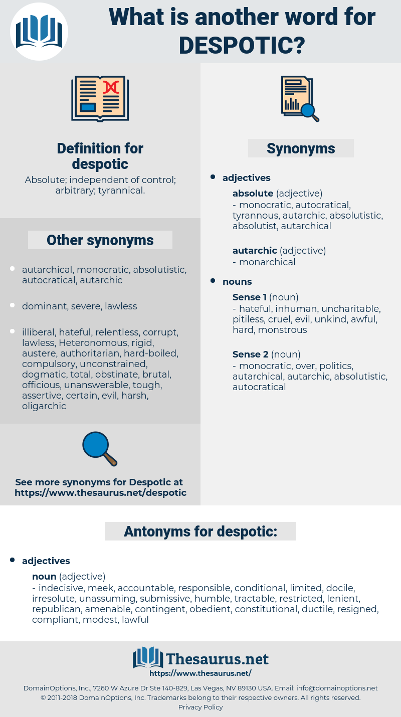 despotic, synonym despotic, another word for despotic, words like despotic, thesaurus despotic