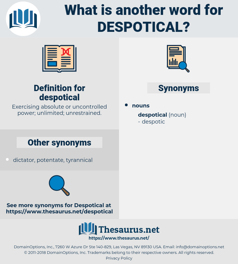 despotical, synonym despotical, another word for despotical, words like despotical, thesaurus despotical