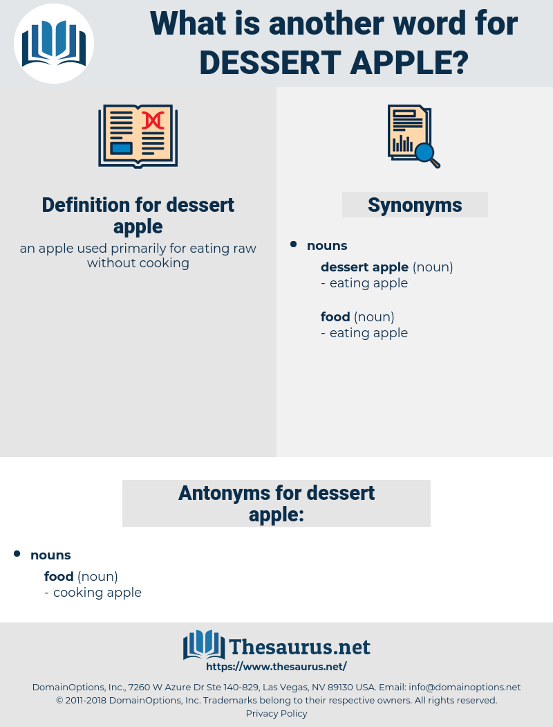 dessert apple, synonym dessert apple, another word for dessert apple, words like dessert apple, thesaurus dessert apple