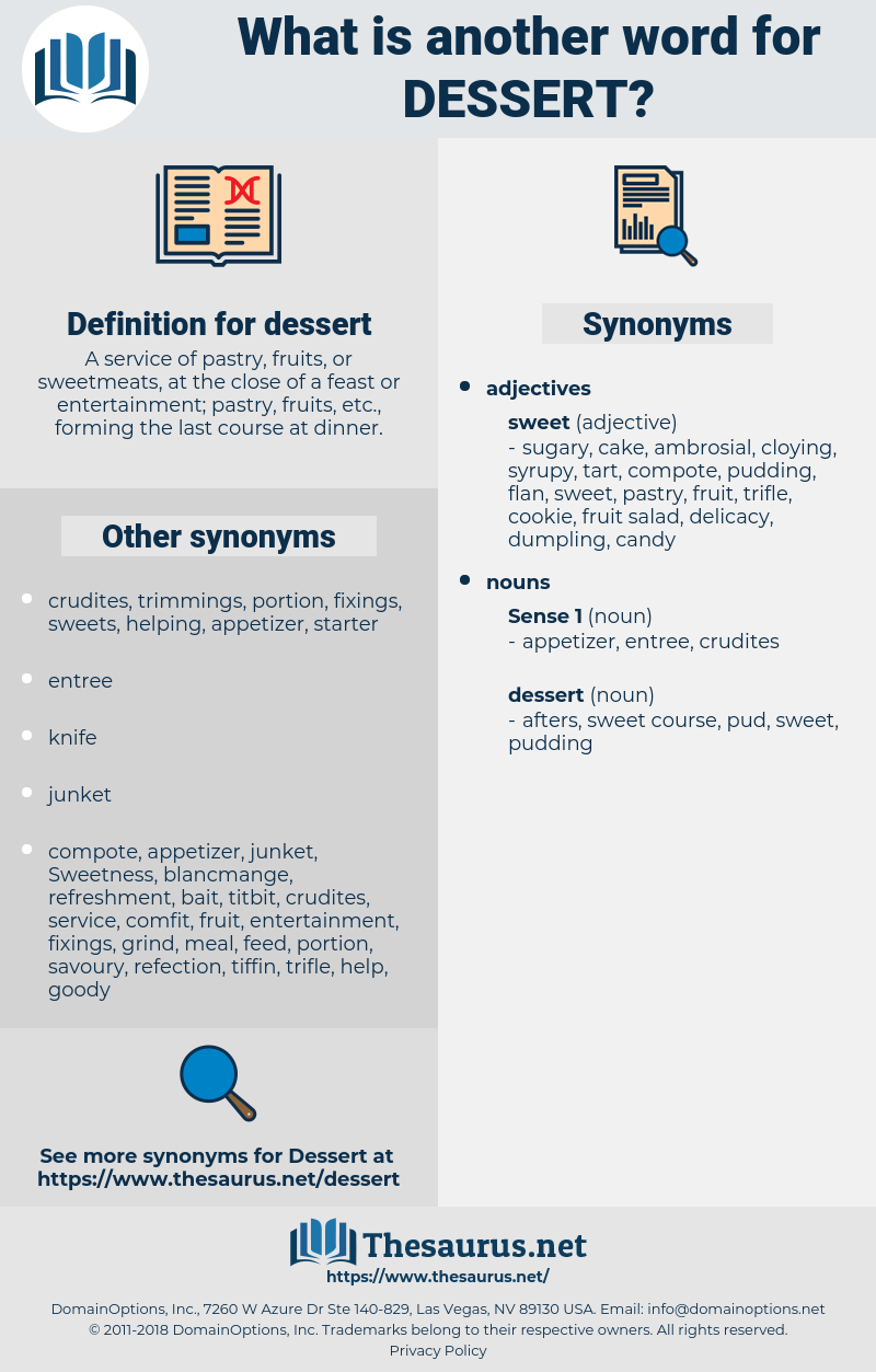 synonyms for dessert - thesaurus