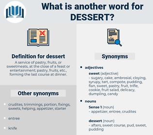 Synonyms For Dessert Thesaurus Net
