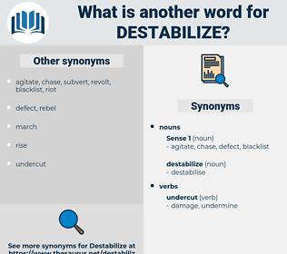destabilize, synonym destabilize, another word for destabilize, words like destabilize, thesaurus destabilize