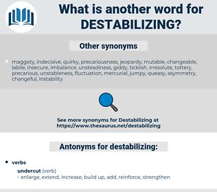 destabilizing, synonym destabilizing, another word for destabilizing, words like destabilizing, thesaurus destabilizing
