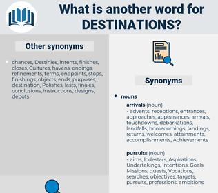 destinations, synonym destinations, another word for destinations, words like destinations, thesaurus destinations