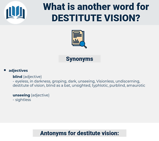 destitute vision, synonym destitute vision, another word for destitute vision, words like destitute vision, thesaurus destitute vision