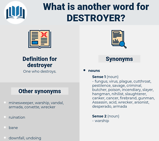 destroyer, synonym destroyer, another word for destroyer, words like destroyer, thesaurus destroyer