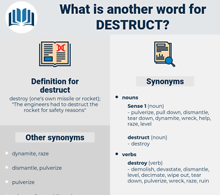 destruct, synonym destruct, another word for destruct, words like destruct, thesaurus destruct