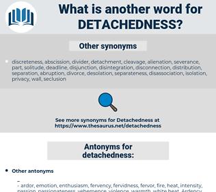 detachedness, synonym detachedness, another word for detachedness, words like detachedness, thesaurus detachedness