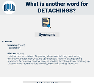 detachings, synonym detachings, another word for detachings, words like detachings, thesaurus detachings