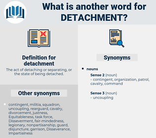 detachment, synonym detachment, another word for detachment, words like detachment, thesaurus detachment
