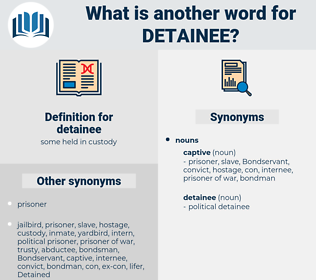 detainee, synonym detainee, another word for detainee, words like detainee, thesaurus detainee