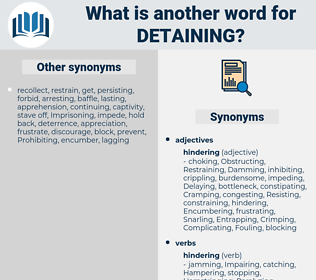 Detaining, synonym Detaining, another word for Detaining, words like Detaining, thesaurus Detaining