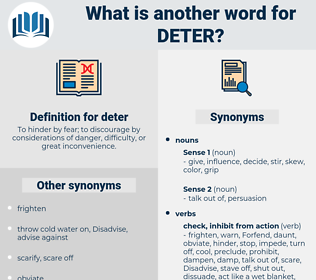 deter, synonym deter, another word for deter, words like deter, thesaurus deter