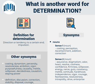 determination, synonym determination, another word for determination, words like determination, thesaurus determination