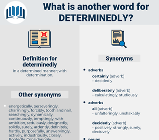 determinedly, synonym determinedly, another word for determinedly, words like determinedly, thesaurus determinedly