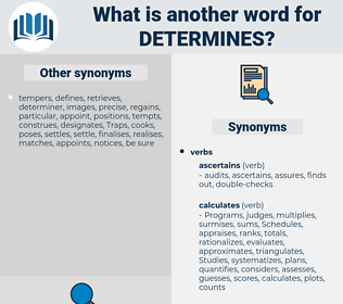 determines, synonym determines, another word for determines, words like determines, thesaurus determines