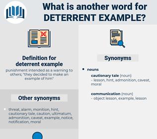 deterrent example, synonym deterrent example, another word for deterrent example, words like deterrent example, thesaurus deterrent example