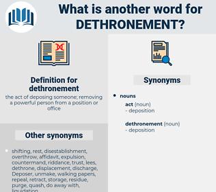 dethronement, synonym dethronement, another word for dethronement, words like dethronement, thesaurus dethronement