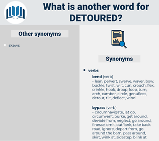 detoured, synonym detoured, another word for detoured, words like detoured, thesaurus detoured