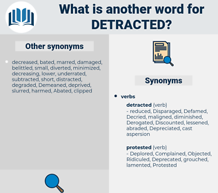 Detracted, synonym Detracted, another word for Detracted, words like Detracted, thesaurus Detracted